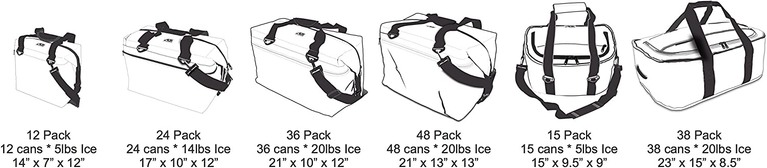 3 Pack AO Coolers Carbon Series Soft Cooler