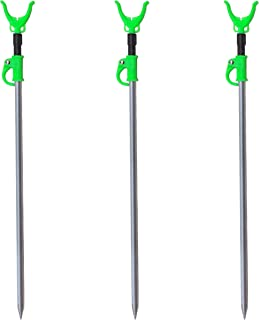 M80 TX 3 Pack - Aluminum Telescopic Fishing Rod Holders for Bank Fishing
