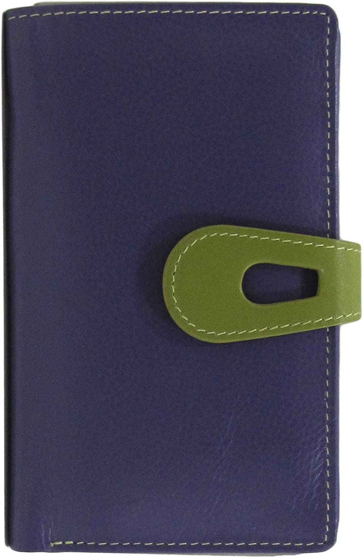 Ili New York 7813 Midi Wallet with RFID Blocking Lining (Purple Moss Green)