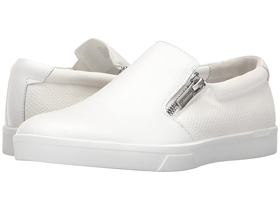 Calvin Klein Ibiza (White Nappa Smooth Calf/Emboss Soft Leather) Men