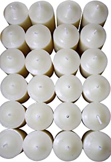 Enlightened Ambience 24 Calming Lavender Herb Highly Scented Votive Candles in Ivory 2 inches tall and 1 3/8 in diameter W...