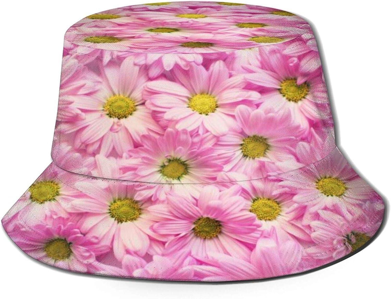 Pink Petaled Flowers Wall Bucket Summer Packa Super-cheap Unisex Hat High quality new Sun