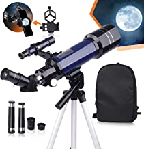 USCAMEL Telescope for Kids and Beginners,70mm Aperture 400mm Astronomy Telescopes with Cellphone...