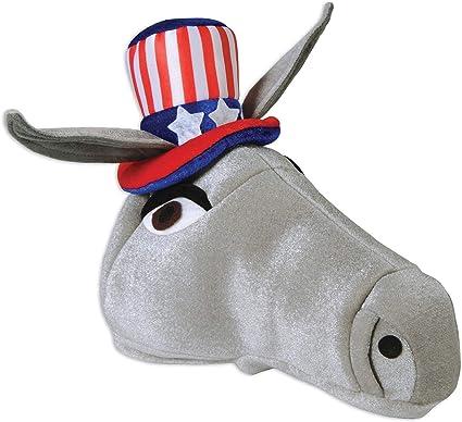 Democrat Headband Donkey Ears Election USA Party Halloween Costume Accessory