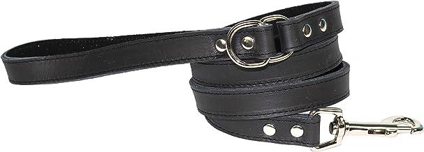 Dogue Plain Jane Leather Dog Lead, Black