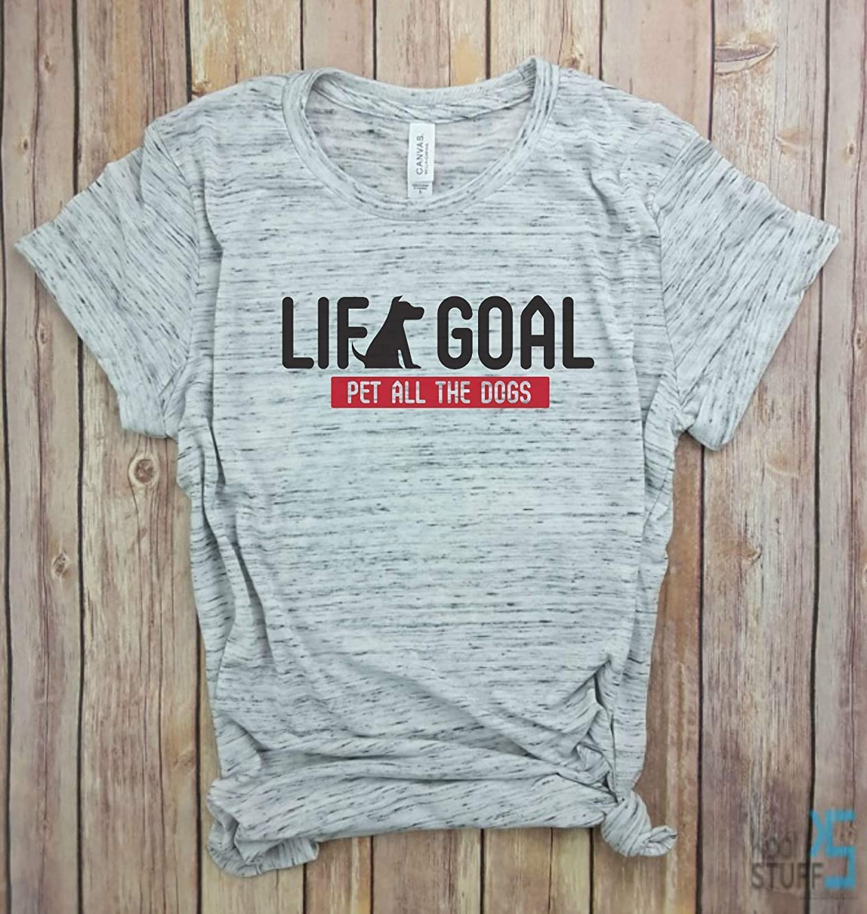 Life Goal Pet All the Dogs, Red Label | Dog Mom shirt, Dog Mom Gift, Gym tank, Yoga Shirt, Womens Shirt, Funny Workout Shirt, weight lifting Shirt.