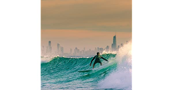 JP London SQM2364PS uStrip Peel and Stick Removable Wall Decal Sticker Mural California Dreaming Surf Hang Ten at 6 High by 6 Wide