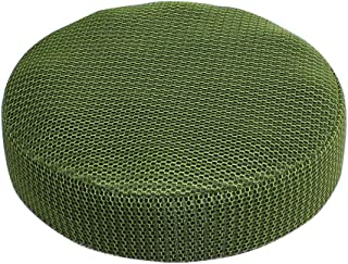 Enerhu 2 PCS Stool Covers Soft Colorful Round Seat Cover Polyester Slipcover for Home Green 2XL/15.75 Inches