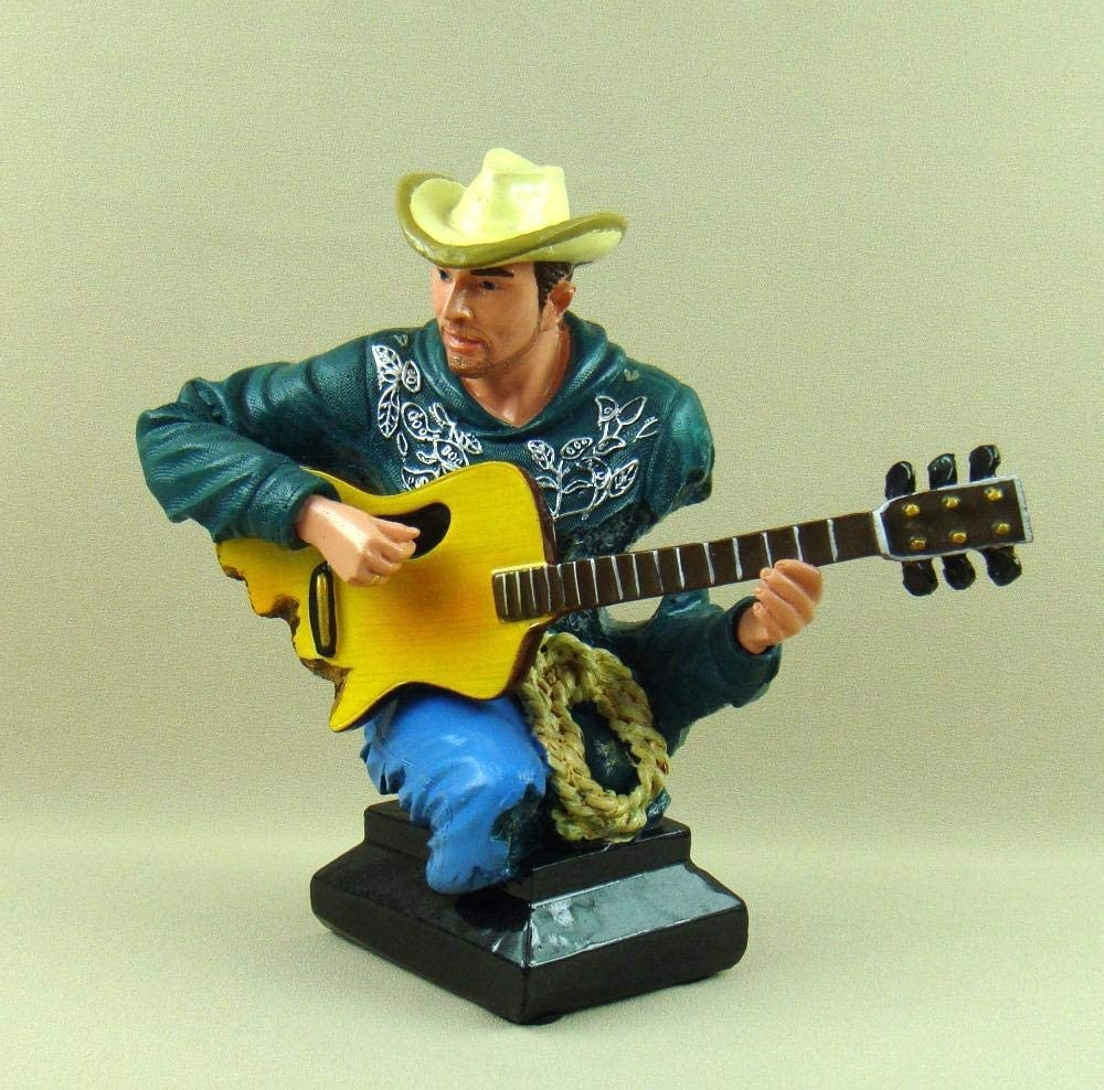 Under blast sales GZSBM Handmade Statue Craftspolyresin Countryside Cowboy Low price Guitari
