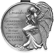 AngelStar 15687 Grandson Guardian Angel Visor Clip Accent, 2-1/2-Inch