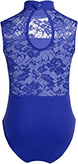 iiniim Kids Girl's Lace/Cross Back Gymnastics Ballet Dance Camisole Leotard Tops Athletic Sports Outfit