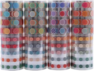 8 Rolls PET Sticker Set, NogaMoga Circle Dot Series 60mm Wide Solid Color with 8500+ pcs Round Stickers for Arts, DIY Craf...