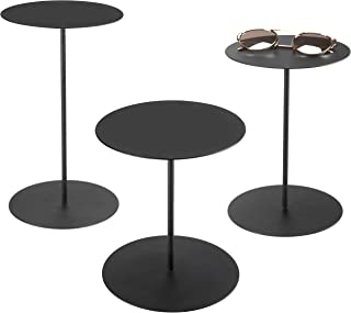 MyGift Set of 3 Black Metal Retail Display Risers, Various Height Jewelry and Accessories Stand