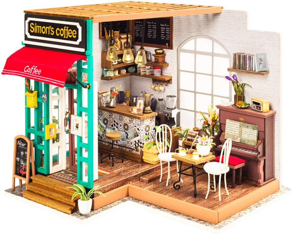 LHYCM DIY Doll Regular store House Model Kit Coffee Hou Wooden Hand-Assembled Cheap super special price