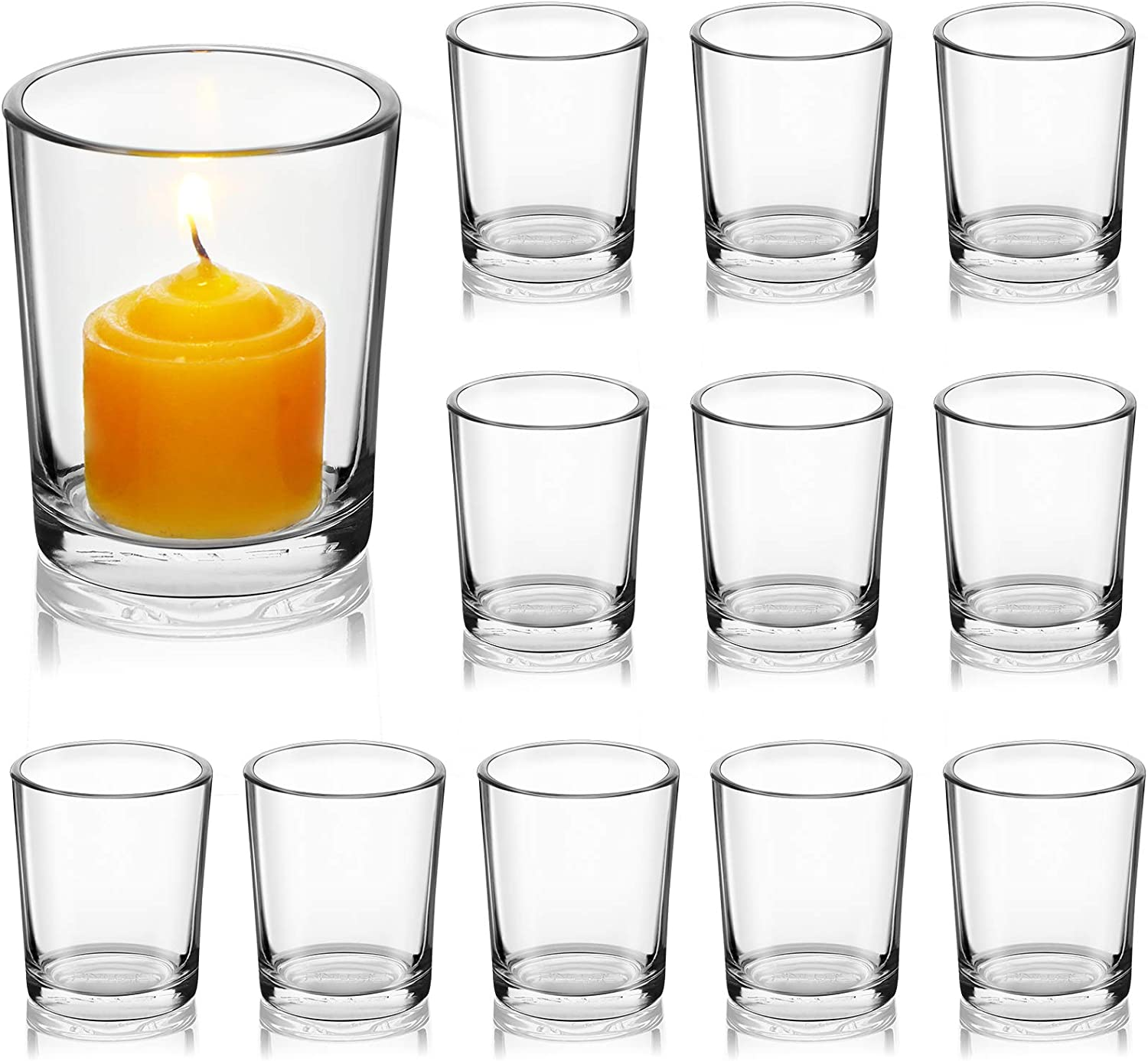 NEW before selling LETINE Clear Glass Holders OFFicial Candle Votive