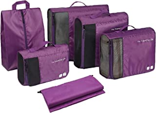 Packing Cubes Set 6 Pcs For Travel Waterproof luggage Organizer For Suitcase With Laundry Bag Easy Pack Home Storage Bags...