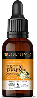 Soulflower Aroma Diffuser Oil - Exotic Jasmine - 100% Pure, Organic, Natural, Alcohol-Free, Chemicals Free, No Synthetic C...