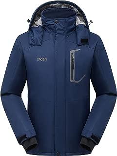 Mden Men's Waterproof Ski Jacket Outdoor Windproof Fleece Insulated Snowboard Rain Jacket