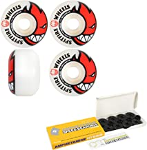 Spitfire Skateboard Wheels with Hybrid Ceramic Bearings Bighead White 99A