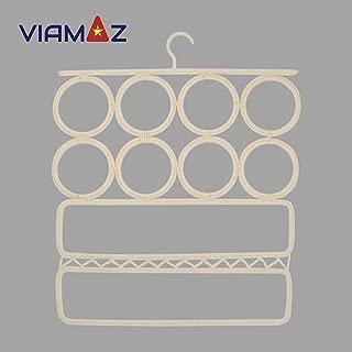 VIAMAZ Clothes Hangers Plastic 1 pcs Versatile Scarf Hanger Best Space Saving Scarf Organizer for Closet Full Clothing Set of Shirt Pants Coat Belt Tie Storage Home Décor Resort Hotel Accessories