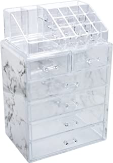 Sorbus Luxe Marble Cosmetic Makeup and Jewelry Storage Case Display - Spacious Design - Great for Bathroom, Dresser, Vanit...