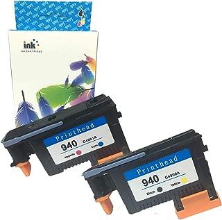YXG Compatible HP 940 Printhead C4900A C4901A Work for Officejet Pro 8000 8500 8500A 8500A Plus 8500A Premium(1BK/Y 1C/M) 2 Pack