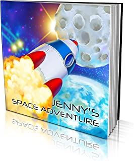 """Personalized Story Book by Dinkleboo -""""Space Adventure"""" - A Story About Your Son or Daughter Going to The Moon - for Child..."""