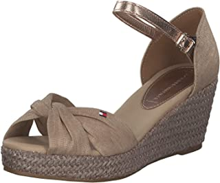 Tommy Hilfiger Iconic Elba Metallic Canvas Espadrille For Women Desert Sand, Size: 39 EU