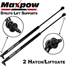Maxpow 2 Pcs Gas Charged Liftgate Lift Support 55394323AA Compatible With Jeep Grand Cherokee 2005 2006 2007 2008 (Type With Torx Ends) With Out Power Liftgate
