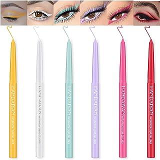 Ownest 6 Colors Eyeliner Pen,Colorful Eyeliner Gel Set Matte Eyeliner Pencil for Women Eye Liner Professional Eye Makeup W...