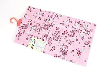 子供浴衣 90サイズ 1-2才 変わり織り 子供用 かわいい 90サイズ 10.ピンク×赤(桜)2