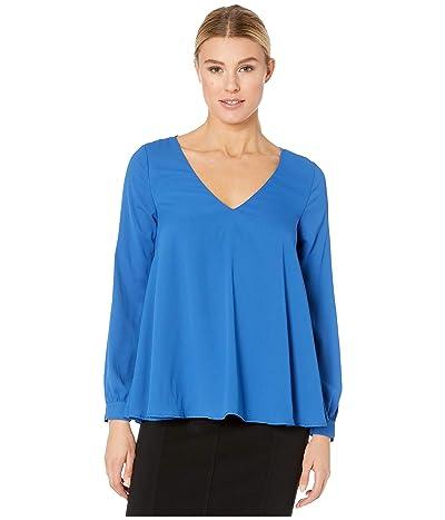 Karen Kane Cross-Back Top (Blue) Women