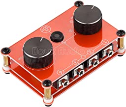 Nobsound Little Bear MC104 4(1)-in-1(4)-Out 4 Port 3.5mm Stereo Audio Switcher Passive Speaker Headphone Manual Selector Splitter Box Audio Sharing (Red)