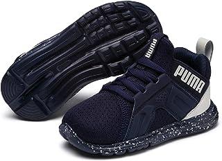 PUMA Unisex-Kids Enzo Tech Sneaker, Peacoat-Glacier Gray