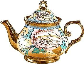 Theepot, (800ML) Europese Stijl Handgemaakte Theeset, Koffiepot, voor Geschenken/Bruiloft/Familie/Hotel/Kantoor (Kleur: C)