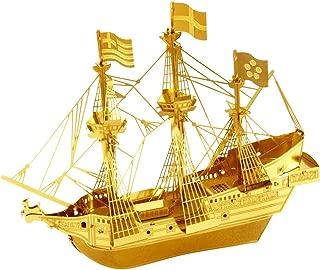 Fascinations Metal Earth Kit de Modelos de Metal 3D - Golden Hind Tall Ship - VERSION DE ORO