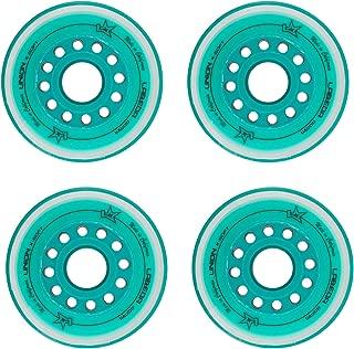 Labeda Inline Roller Hockey Skate Wheels Union Teal 80mm Set of 4