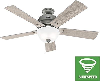 Hunter Fan Company 50406 Highdale Ceiling Fan, 52, Matte Silver
