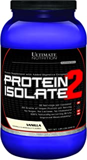 Ultimate Nutrition Protein Isolate 2 Vanilla, 30 Servings 1.85 Lbs. (840 G)