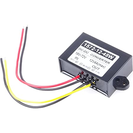 KNACRO DC-DC 9V 12V 24V 36V 48V 8V-55V to 5V 3A 15W Dual USB Female Mounting Holes Step-Down Power Supply Car Power Converter Over-Temperature Over-Current Short Circuit Protection Reverse Protection