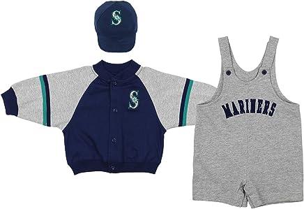 fdc1926d7 Mighty Mac Seattle Mariners MLB Baby Boys Infant 3 Piece Set Jacket  Shortall Cap, Navy