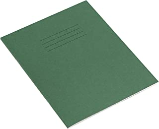 RHINO Stationery Exercise Book   8 X 6.5   48 Page   7mm Squared Exercise Book   Dark Green   Learning Resources   Classro...