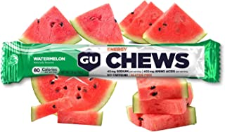 GU Energy Chews Double-Serving Sleeve, 18-Count, Watermelon