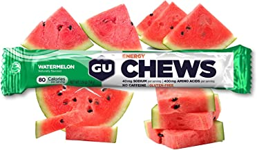 GU Energy Chews Double-Serving Sleeve, 18-Count, Watermelon