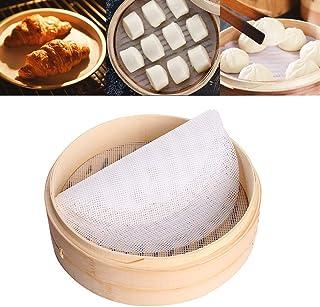 5 Pièces Dumpling Steamer Pad Cuisine Silicone Vapeur Maille Tapis de Maille Pad Antiadhésifs Vapeur en Bambou Silicone Di...