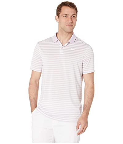 Nike Golf Dri-FITtm Mini-Stripe Victory Polo (Lilac Mist/Sail/White) Men