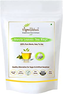"""Agrovishwa 100% Pure Stevia Leaves Tea Bags""""Intro.Offer""""