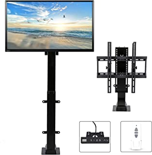 "CO-Z Motorized TV Mount Lift for 30"" - 57"" TVs Height Adjustable up to 57"", 15° Tiltable 154lbs Weight Capacity, 60° Swive..."