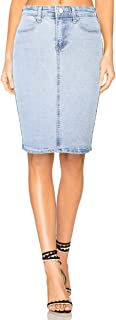 Womens Super Comfy Stretch Pencil Jean Skirt Knee Length for Office Wear Perfect Curvy Fit