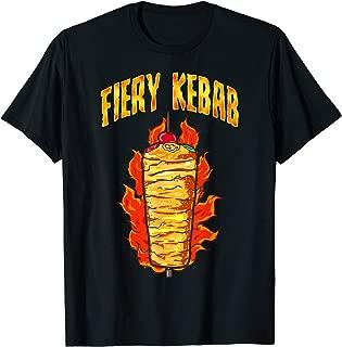 Fiery Kebab | Funny Illustration Doner Turkish Food Lover T-Shirt